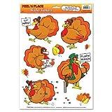 Wacky Turkey Window Clings (Pack of 48)