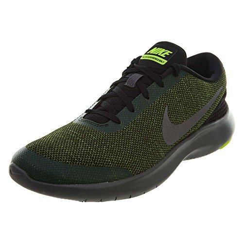 NIKE Men's Flex Experience Rn 7 Running Shoes (10 D(M) US, Black/Metallic Dark Grey-Volt) -