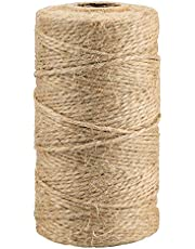 KINGLAKE Natural Jute Twine Best Arts Crafts Gift Twine Christmas Twine Industrial Packing Materials Durable String for Gardening Applications