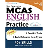 MCAS Test Prep: Grade 4 English Language Arts Literacy (ELA) Practice Workbook and Full-length Online Assessments: Next Generation Massachusetts Comprehensive Assessment System Study Guide