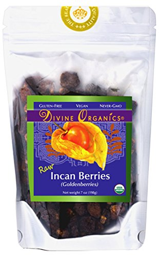 Divine Organics Raw 7 oz Incan Berries Goldenberries 198 grams (Berry Raw Extract Wild)