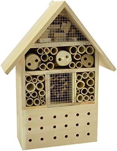 cosy@home decoration XL Insektenhotel Nistkasten Insektenhaus Brutkasten Vogel Bienen Garten 37cm