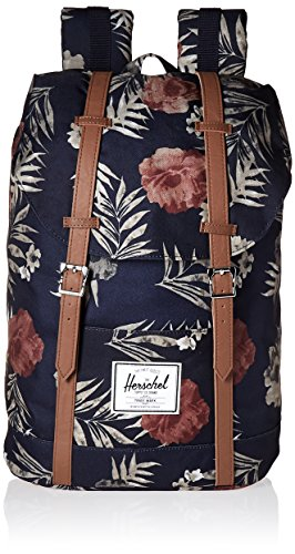 Herschel Supply Co. Retreat Backpack, Peacoat Floria/Tan Syn...