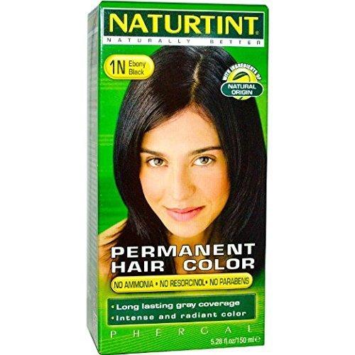 (Naturtint - Permanent Hair Colorant - 1N Ebony Black, 5.6 Fl Oz (Packaging May Vary))