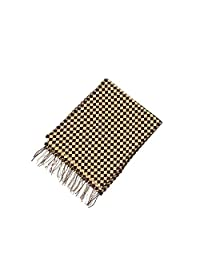 Scarf,Autumn And Winter Pure Cashmere Short Multi-color Plaid Scarf, Soft And Comfortable, Warm Fashion (Color : Yellow)