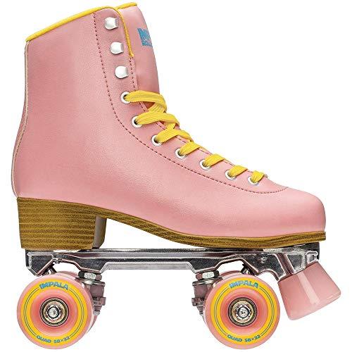 Impala RollerSkates Women's Lace-Up Rollerskates, Pink/Yellow (PNK/YLLW), - Roller Pink