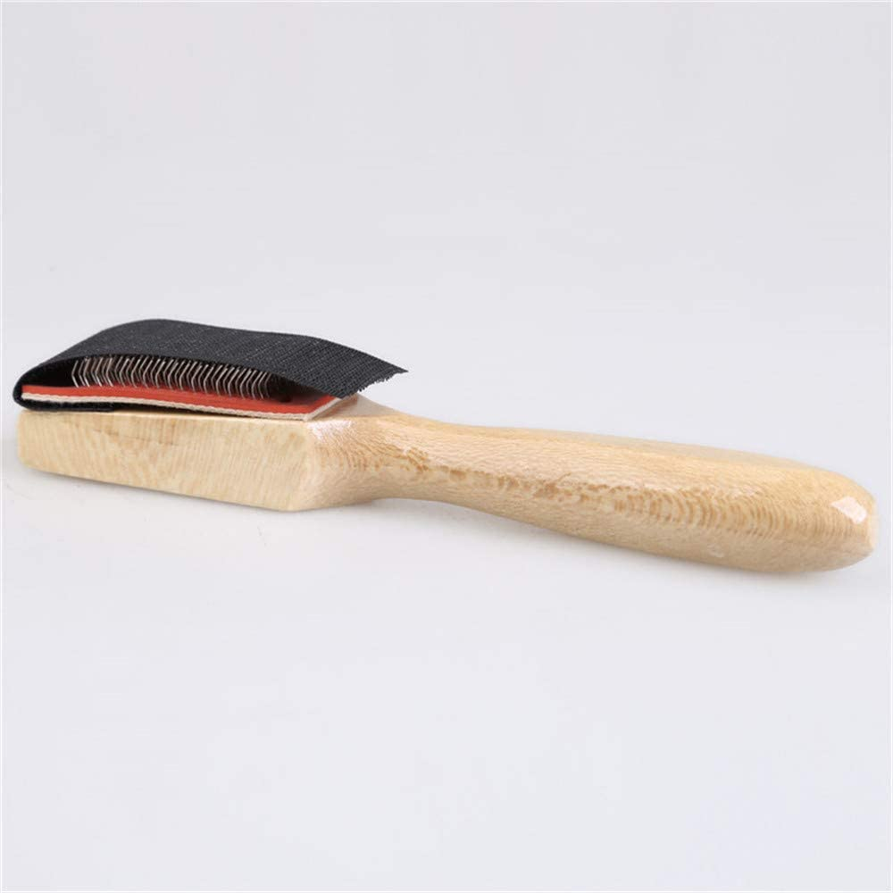 Wood Suede Sole Wire Cleaners Dance Shoes Cleaning Brush For Footwear