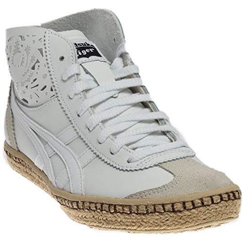 ASICS Womens Mexico Mid Runner Espadrille Casual Athletic & Sneakers White