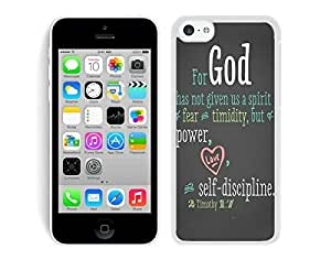 Best Silicone Iphone 5c White Slim Case Mate Bible Quote Soft TPU Mobile Phone Protective Cover