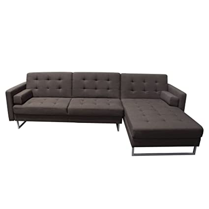 Superieur Diamond Sofa Opus Right Convertible Chaise Sectional In Chocolate
