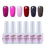 opi gelish polish - Nail Polish Set LED UV Gel Nail Varnish Soak Off Nail Polish Kit by Ukiyo