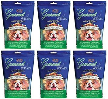 Loving Pets Apple & Chicken Wraps Dog Treats, Gourmet All Natural, 6 Ounce, 6 Pack