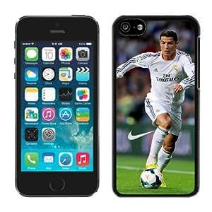 Soccer Player Cristiano Ronaldo Black iPhone 5C Phone Case Genuine Custom Cover