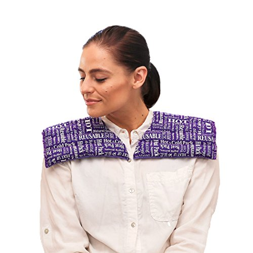 - Heat Therapy Pack - Neck & Shoulder Wrap - Scented Heating Pads - Microwaveable & Reusable Neck Warmer, Stress, Tension Relief by HTP Relief (Purple)