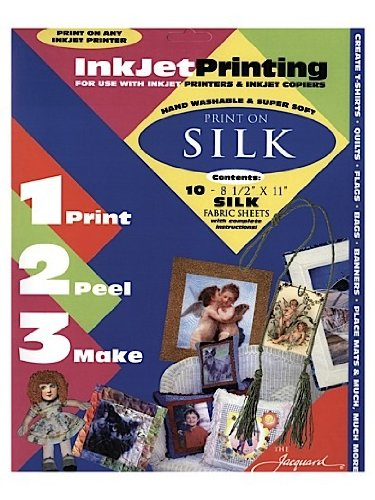 Inkjet Fabric (Jacquard Ink Jet Fabric 8.5'' x 11'' Silk Sheets (10 pack))