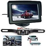 Backup Camera and Monitor Kit, ShineKee Universal Waterproof Rear-view License Plate Car Rear Backup Camera + 4.3 LCD Rear View Monitor
