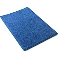 Area Rug Carpet. SEASIDE ROYAL BLUE 30 oz. ½ Thick. 100% Polyester fiber, Medium Density, Soft and Durable. MULTIPLE SIZES, SHAPES and Brilliant Colors.