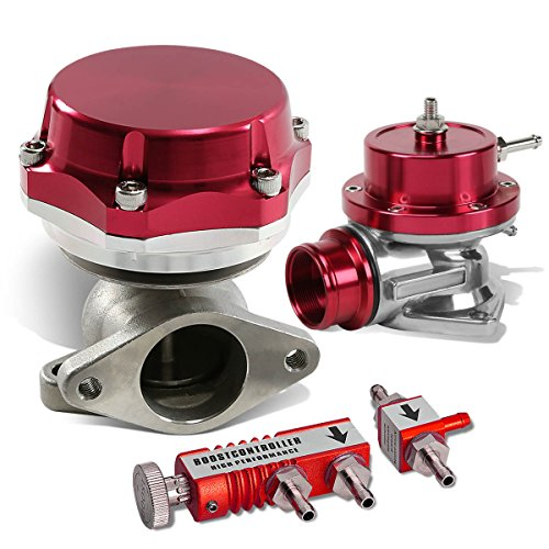 GS-Style Turbo BOV+38mm Wastegate T3+Boost Controller (Red) (38 Mm Turbo Wastegate)