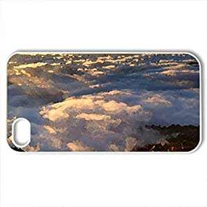 Beautiful View - Case Cover for iPhone 4 and 4s (Sunsets Series, Watercolor style, White)