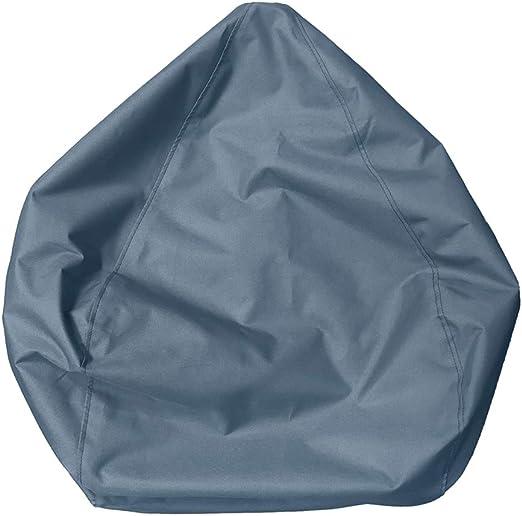Blu, 70 * 80cm Geagodelia Copertura per Poltrona a Sacco Multicolori Grande Bean Bag Fodera per Sedia a Sacco in Tinta Unita Morbida e Comoda