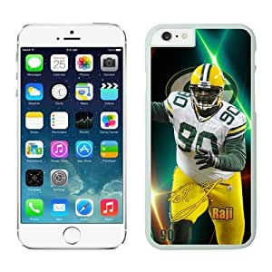 Green Bay Packers BJ Raji Case For iPhone 6 Plus White 5.5 inches