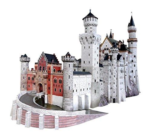 Germanys Neuschwanstein Castle - UMBUM 157 Innovative 3D Puzzle - Neuschwanstein Castle, Germany - by Clever Paper 359 pcs 25
