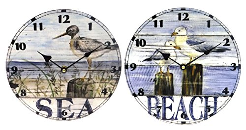 Ceramic-Beach-Inspired-Wall-Clock-Seagull-or-Shore-Bird-95