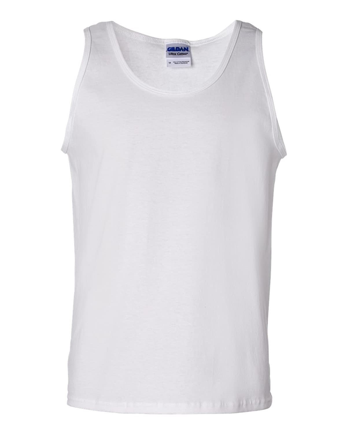 Adult Cotton Tank Top (White) (2X-Large)