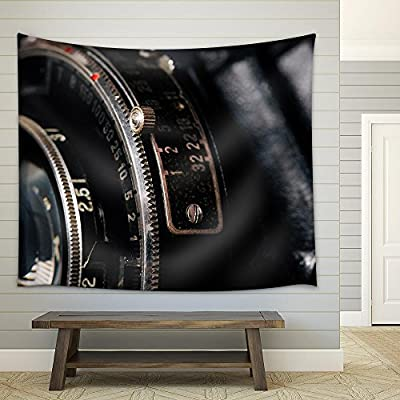 Stunning Expert Craftsmanship, A Retro Camera Lens Close Up Fabric Wall, Created Just For You