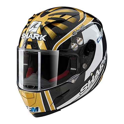 Shark Race-R Pro Carbon Zarco Replica Gold White Motorcycle Helmet Size Medium