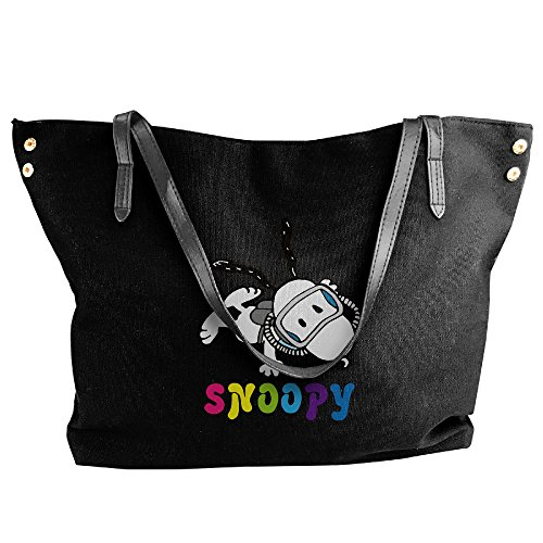 Hand Jive Costumes (Peanuts Snoopy Sleeping Diving Canvas Shoulder Bag Large Tote Bags Women Shopping Handbags)