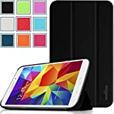 Pellem SG2014 Samsung Galaxy Tab 4 8.0 Case - Ultra Slim Lightweight SmartCover Stand Case for Samsung Galaxy Tab 4 8.0 Inch Tablet (With Smart Cover Auto Wake/Sleep), Black