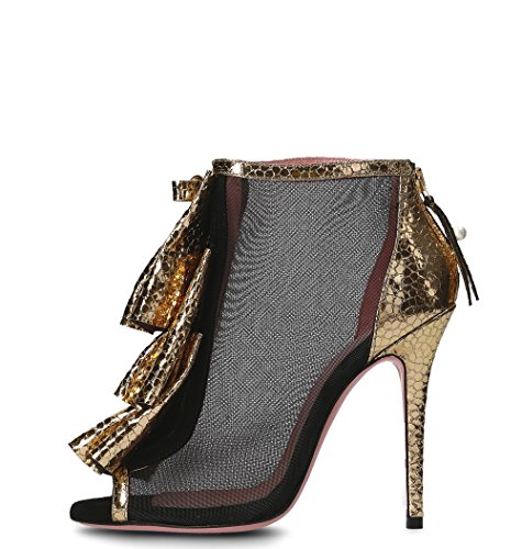 Noir Femme Escarpins Or Tacchi Tipe Polyester 4207ONEROROUGE e IFxaqvP