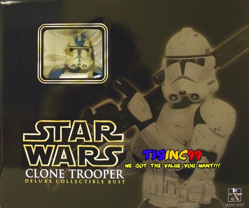 Busts Star Giant Gentle Wars - Star Wars Clone Trooper Blue Special Ops Collectible Bust