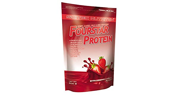 Amazon.com: FourStar Protein 500 g Vanille Française Scitec Nutrition: Health & Personal Care