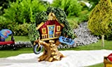GiftCraft Miniature Fairy Garden Kids at Play Tree House Figurine