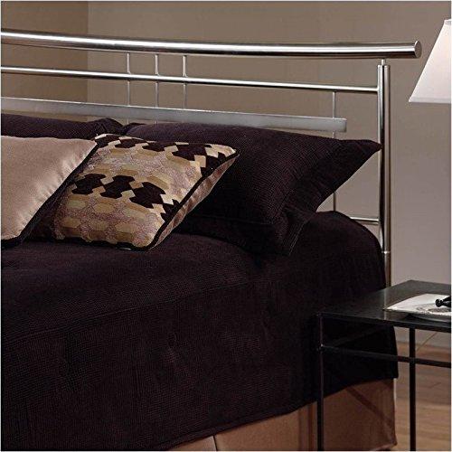 Hillsdale Furniture 1331HKR Soho Headboard with Rails, King, Brushed Nickel - Nickel Finish Metal Headboard