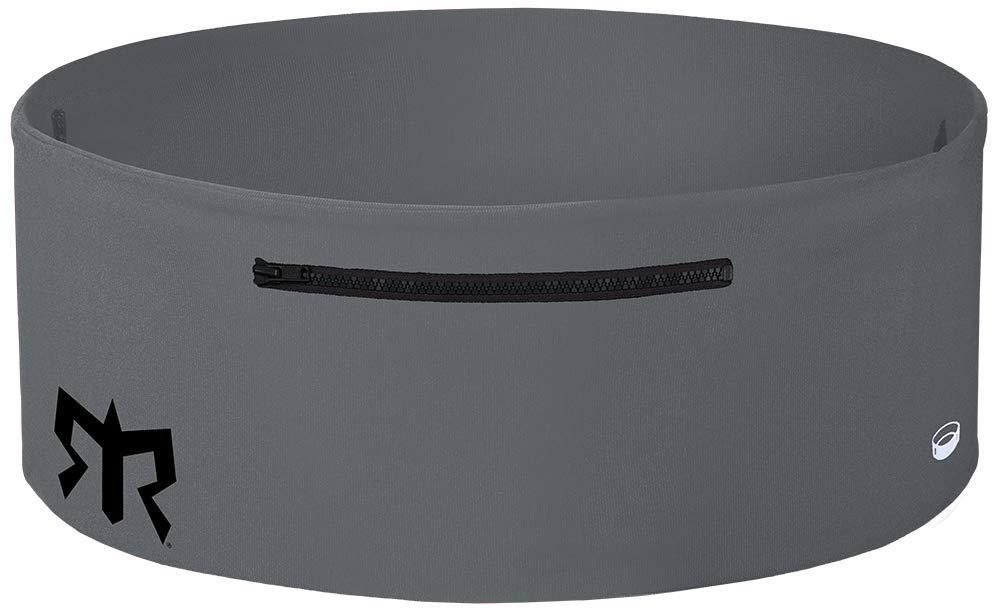 Ragnar Edition Wearable Fitness Waistband Travel & Sports Storage Waist Belt (Grey w/Black Zipper, M/L)