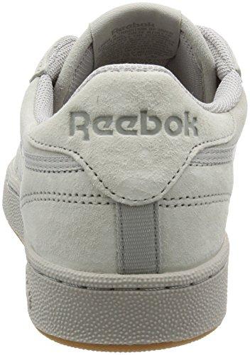 Reebok Club C 85 Tg, Zapatillas de Gimnasia para Hombre Gris (Steel/carbon/gum)