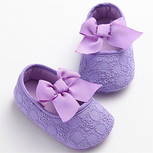 Pueri Zapatos para Bebés Niñas Primer Paso Zapatos de Suela Blanda Princesa Recién Nacido S