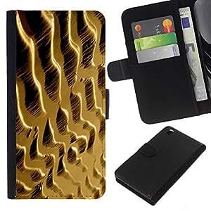 KLONGSHOP // Tirón de la caja Cartera de cuero con ranuras para tarjetas - Dunas de arena del desierto - HTC DESIRE 816 //