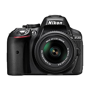 Nikon D5300 DX-Format Digital SLR Kit (Black) w 18-55mm & 55-300mm VR Lens 32GB Bundle Includes Camera and lens, memory card, Deluxe Filert Kit, gadget bag, full size tripod and Wireless Shutter Release Remote Control from Nikon