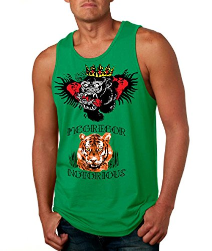 Allntrends Men's Tank Top Conor Mcgregor Inspired Tattoos (S, Irish Green)