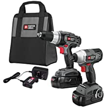 PORTER-CABLE Pc218Idc-2 18-Volt Nicd Drill/Impact Driver 2-Tool Kit