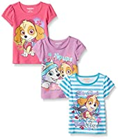 Paw Patrol Girls' 3 Pack T-Shirts