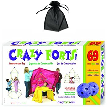 Crazy Forts 69 Piece Set Original w/free storage bag