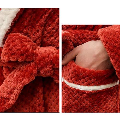 color Loungewear De Suave Y Bata Xl Abrigo Lujo Red Baño Azul La Tobillo Longitud Grueso Paño Sleepwear Noche Ropa Mañana Tamaño Albornoz Damas Del Traje zRtq5w5p
