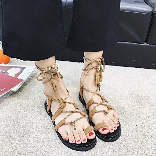 Dedo cómoda del Elegante del Correa Piso Antideslizante de la Sandalias la y pie del de Sandalia Borla YMFIE Sandalias de C Las de Antideslizantes Punta la xwTqYB0C