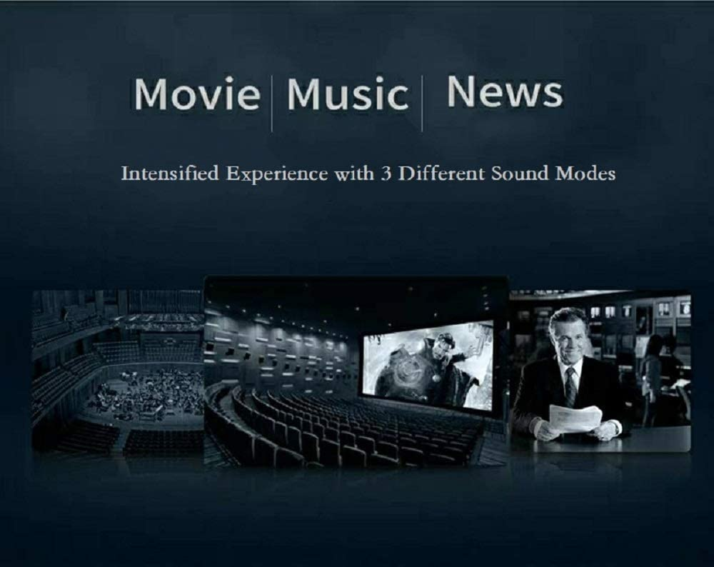 Home Theater Audio Surround Sound System Listener Pro Slim Sound Bars for TV Optical//Coaxial//AUX//USB Inputs Silver Soundbar Wired/&Wireless Bluetooth 5.0 Speaker