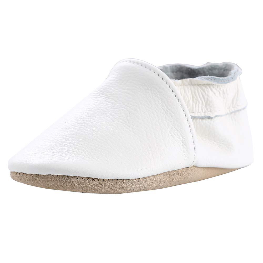 Cuero Suave Zapatos de Bebe Pantuflas Infantiles Patucos 0-3 A/ños